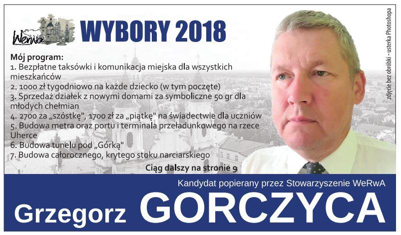 Grzegorz Gorczyca i jego program wyborczy hitem w Internecie