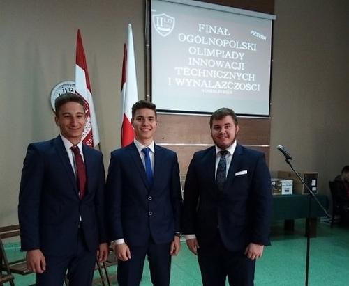 Uczniowie ZST finalistami Olimpiady Innowacji Technicznych i Wynalazczości
