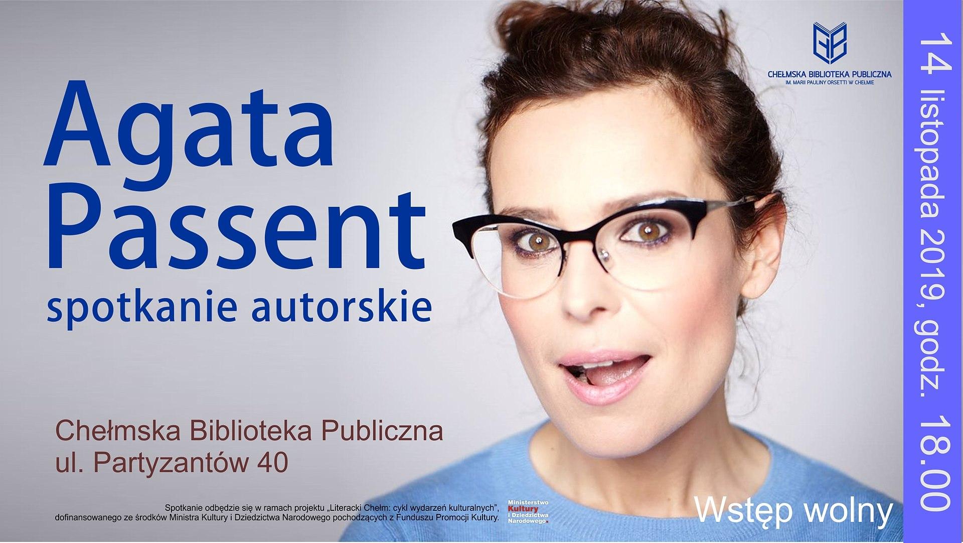 Agata Passent w chełmskiej bibliotece