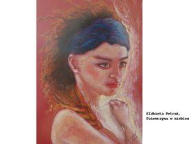 Elzbieta Petruk Dziewczyna w niebieskiej opasce, 24×34