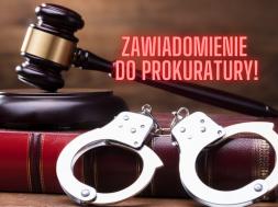 banaszek zawiadomienie do prokuratury